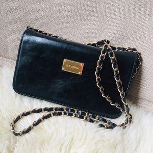 St. John Leather Crossbody Bag